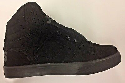 0ad75f405cdd8 MENS OSIRIS CLONE Skateboarding Shoes Nib Black Black Oxford ...