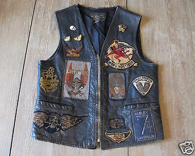 Motorcycle Club Vintage Harley Biker Vest Patches