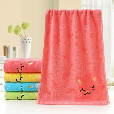 Cartoon Soft Cotton Baby Infant Newborn Bath Towel Washcloth Feeding 20*50cm BM