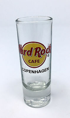 "Htf Hard Rock Cafe Copenhagen Denmark - 4"" Tall Shot Glass Cordial"