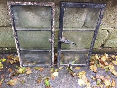2 Old Crittall style metal windows black - BARN CLEARANCE