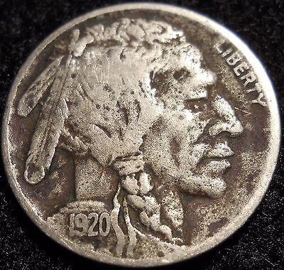 1920-D Buffalo Nickel 5 Cent ~ VF / XF Details ~ U.S. Coin Lot ! Five Cent 5C