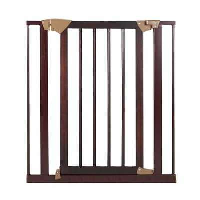 Baby Trend Pressure Fit Hard Wood & Metal Pet Easy Lock Safety Gate (Open Box)