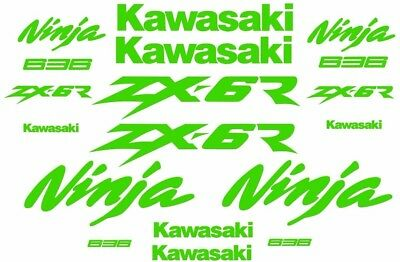 Zx6R Zx6-R Graphics Decal Sticker Set 20 Pieces Colour Choice Ninja 636