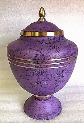"""Cremation Urn for Adults Large 11.8"""" 300mm - purple marble color for ashes"""