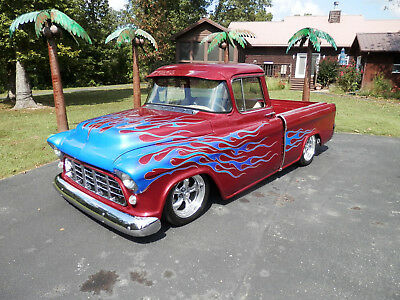 1955 Chevrolet Other Pickups CAMEO 1955 CHEVY CAMEO SHOW TRUCK CUSTOM CLASSIC HOT ROD STREET ROD KILLER TRUCK