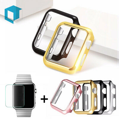 For Apple Watch Series 1/2/3/ 4 Full Body Cover Snap On Case + Screen Protector