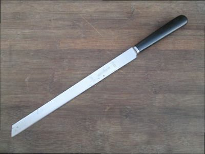 Antique LANDERS FRARY CLARK Chef's Carbon Steel Ham Slicing Knife - RAZOR SHARP