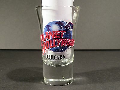 """Chicago Planet Hollywood Ph Shot Glass 3 1/2"""" Tall"""