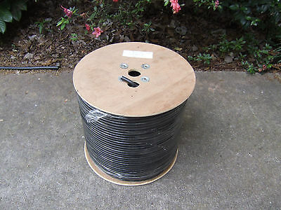 1000' RG-11/U Black Cable Copper Wire Camera Video Coax RG11 Coaxial TV