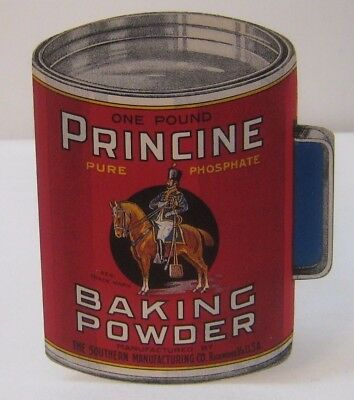 Vtg Princine Baking Powder Color Fold Out Pamphlet Richmond, VA