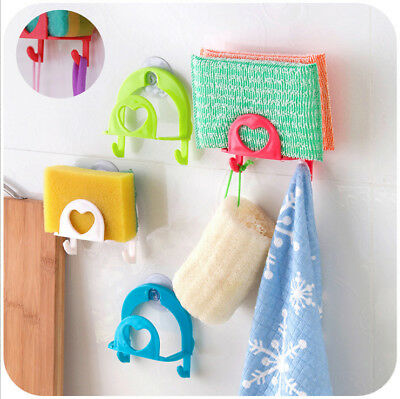 Lovely Easy Hooks Hanger Bathroom Kitchen Shower Cloth Towel Suction Cup