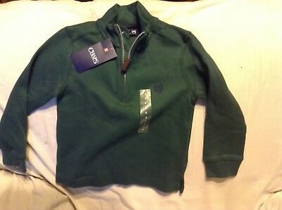 Boys Chaps long sleeve sweater, NWT, Hunter green, size 4