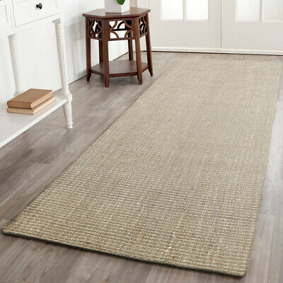 Grey Natural Sisal Floor Rug Mat 80x400cm Runner Tiger Eye Modern Flatweave