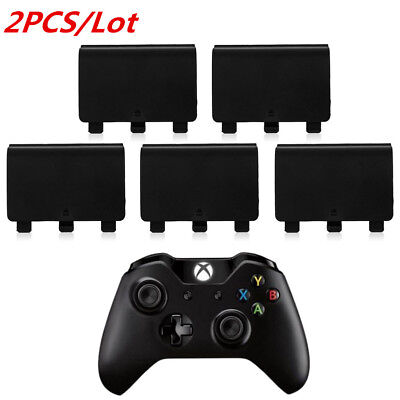 2PC Black Battery Back Cover Door Lid Protector for XBox One Wireless Controller