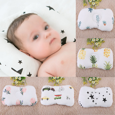 Newborn Prevent Flat Head Pillow Infant Baby Anti Roll Support Neck Cushion New