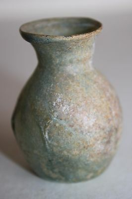 ANCIENT ROMAN GLASS FLASK 2/3rd CENTURY AD