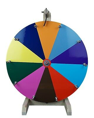 """16"""" Woodwell® Tabletop Color Dry Erase Fortune Prize Wheel 10 Slots"""