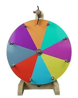 """12"""" Woodwell® Tabletop Color Dry Erase Fortune Prize Wheel 8 Slots"""