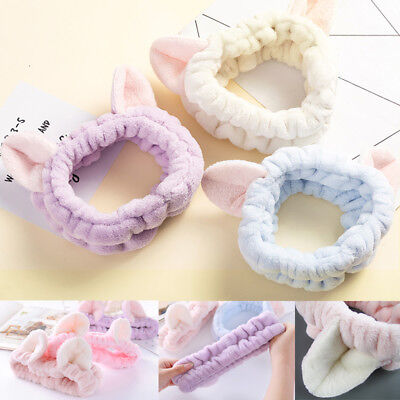 5 Colors Sweet Cat Ear Soft Towel Hair Band Wrap Headband For Bath Spa Make Up