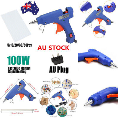 100W Hot Melt Glue Gun Stick Heater Trigger Electric Heating Repair Tool AU Plug