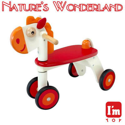 HORSE Rider, Child Safe Paints Ride-on Style Push Trike I'm Toy, Eco rubber wood