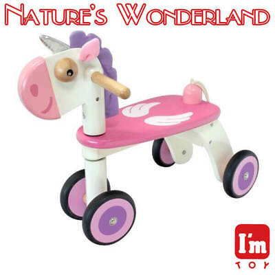 UNICORN Rider Child Safe Paints Ride-on Style Push Trike I'm Toy Eco rubber wood
