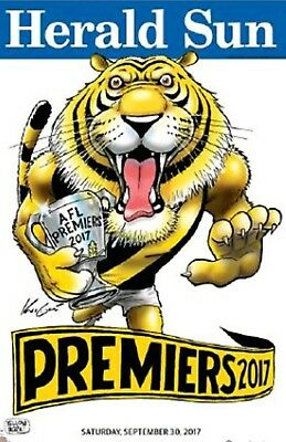 2017 Afl Premiers Grand Final Richmond Tigers Weg Mark Knight Premiership Poster