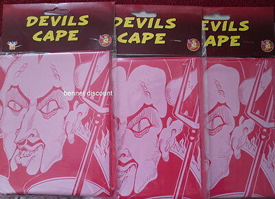 Devils Red Cape Costume Accessory Fancy Dress Halloween  Special Offer