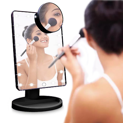 TOUCH LED Light Up Illuminated Make Up Bathroom Mirror With Magnifier