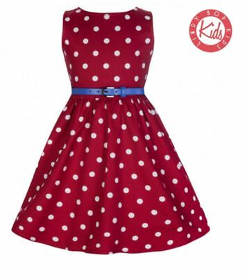 Lindy Bop Mini Audrey' Children's Red Polka Dot Dress