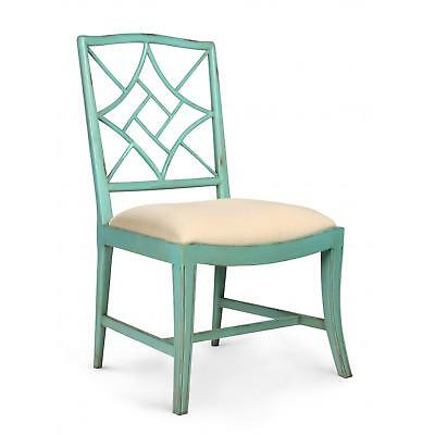 Bungalow 5 Evelyn Seafoam Green Antique Lacquered Mahogany Side Chair Set of 2