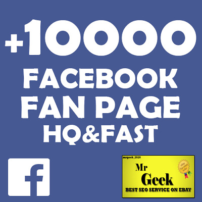 +10000/10k-Facebook-Fan-Page-Real |High Quality & FAST Delivery | Cheap