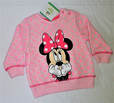 MINNIE MOUSE... New Size 0 Disney Fleece Jumper, New/Tags, Girls, Licensed, Pink