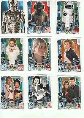 Doctor Who Alien Attax Trading Cards (Assorted.  See description)