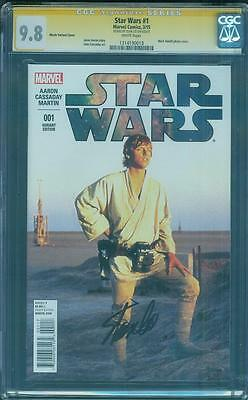 Star Wars 1 CGC SS 9.8 Stan Lee Mark Hamill Photo Variant Movie Cover