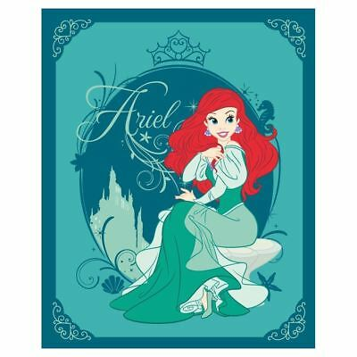 Official Disney Princess Ariel Mermaid High Quality Fleece Blanket Green Kids