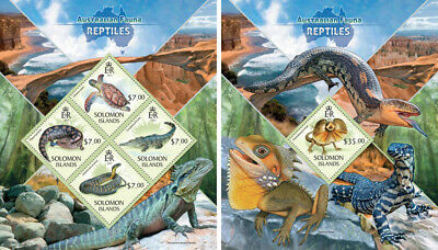 Reptiles Reptilien Lizards Snakes Animals Fauna Mozambique Mnh Stamp Set Topical Stamps