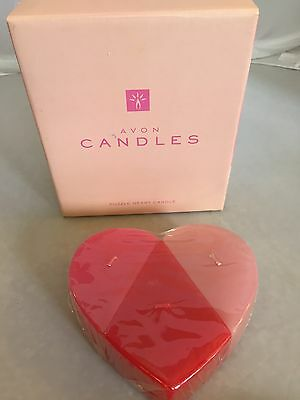 Heart Valentine Candle Avon Pink Rose Fragrance Puzzle Heart Candle New In Box