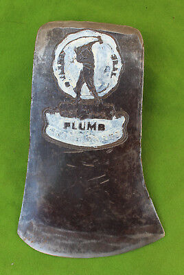 Vintage Plumb Champion Single Bit Axe Head With Large Logo 4 34 By