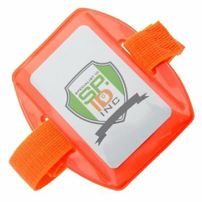 Heavy Duty Bright & Reflective Armband ID Badge Holders with Adjustable Arm Band