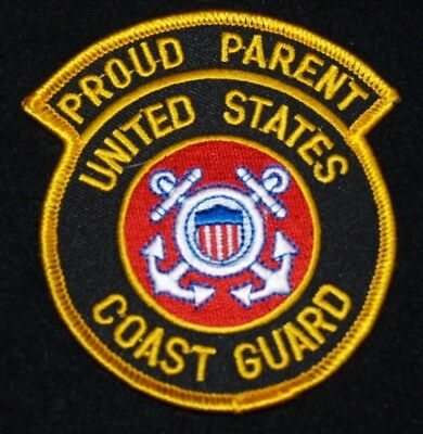 "UNITED STATES COAST GUARD   ""Proud Parent"" Patch 3"" x 3.5""  Patch"