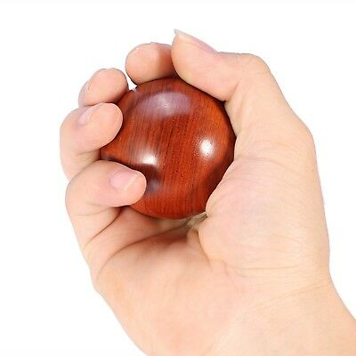 Wooden Stress Ball Hand Massage Relaxation Baoding Chinese Traditional Health