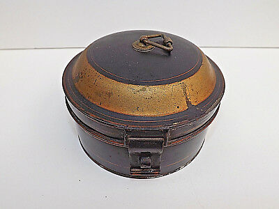 Antique Victorian Travelling Campaign Ware Spice Tin & Grater