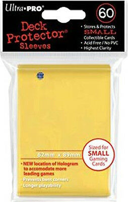 Ultrapro - Card Protector Sleeves - Yellow - 62 X 89Mm Small Size