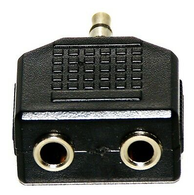 SHARING ADAPTER 2 x 3.5mm STEREO JACKS to 3.5mm PLUG for 2 EARBUDS / HEADPHONES