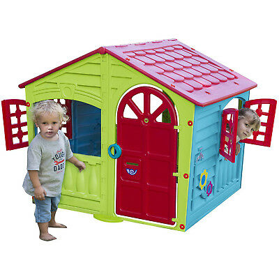 Playhouse For Kids Children Toddler Plastic Play House Cottage Toy Boys Girls