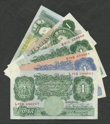 BANK OF ENGLAND  £1  SELECT from MULTI LISTING  Banknotes
