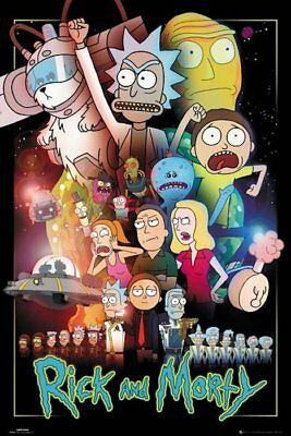 RICK AND MORTY ACTION MOVIE POSTER 24x36-52492