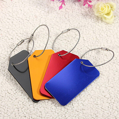 New Fashion Metal Travel Luggage Baggage Tags Aluminium Address Holder Tag Label